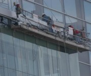 High rise window installation