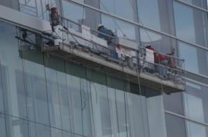 High rise window installation