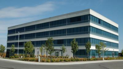 Gennum Office Building. Front Elevation. West Elevation